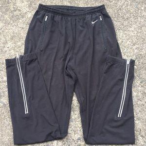 Nike Dri-Fit Black Athletic Track Pants / Joggers